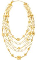 Jose & Maria Barrera 24k Yellow Gold Plated Medallion Ornament Multistrand Necklace - Lyst