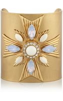 Tory Burch Selma Goldplated Crystal and Resin Cuff - Lyst