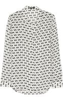 Theory Aquilina Printed Silk Shirt - Lyst