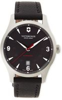 Victorinox Alliance Mechanical Watch with Leather Strap - Lyst