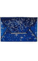 BCBGMAXAZRIA Harlow Sequined Envelope Clutch - Lyst