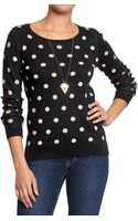 Old Navy Polka-dot Sweaters - Lyst