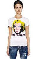 DSquared2 Marildean Printed Cotton Jersey T-shirt - Lyst