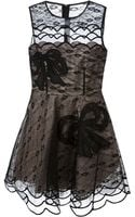 RED Valentino Bow Embroidered Sheer Dress - Lyst