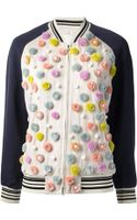 3.1 Phillip Lim Embellished Varsity Jacket - Lyst