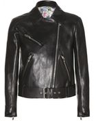 Miu Miu Leather Biker Jacket - Lyst