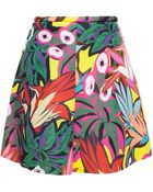 Marni Bonded Jersey Skirt With Jungle Print - Lyst