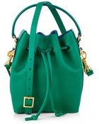 Sophie Hulme Green Mini Bucket Bag - Lyst