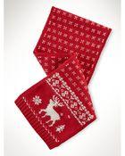 Ralph Lauren Reindeer Wool-Blend Scarf - Lyst