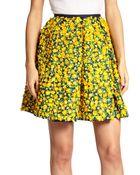 Michael Kors Embellished Floral Skirt - Lyst