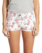 RED Valentino Floral Print Shorts - Lyst