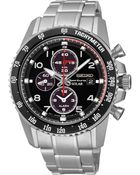 Seiko Men'S Solar Chronograph Stainless Steel Bracelet Watch 41Mm Ssc271 - Lyst