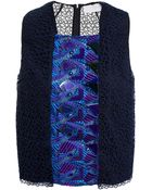 Peter Pilotto 'Phonecia' Embroidered Top - Lyst
