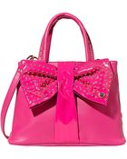 Betsey Johnson Bow Tie Shopper Tote - Lyst