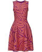 Issa Bay Flared Jacquard Dress - Lyst