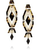Tory Burch Plated Acetate Earrings - Lyst