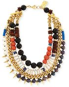Lizzie Fortunato Three Bathers Beaded Statement Necklace - Lyst