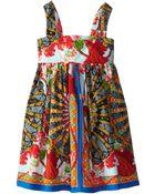 Dolce & Gabbana Strappy Floral Print Poplin Dress (Toddler/Little Kids) - Lyst