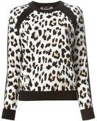 Joseph Leopard Jacquard Round Neck Sweater - Lyst