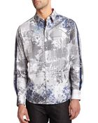 Robert Graham Embroidered Multi-Pattern Cotton Shirt - Lyst