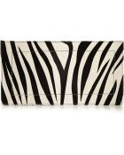 Tamara Mellon Fever Zebra-Print Calf Hair Clutch - Lyst