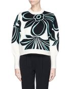 3.1 Phillip Lim Floral Jacquard Cropped Sweater - Lyst