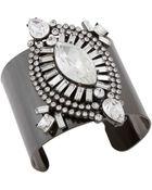 Erickson Beamon Rocks Heart Of Glass Hematite-Tone And Stone Cuff Bracelet - Lyst