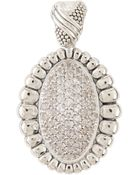 Lagos Pave Sapphire Fluted Pendant - Lyst