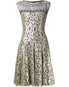 Talbot Runhof Embellished Lace Dress - Lyst