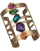 Sam Edelman Multi Stone Cuff Bracelet - Lyst