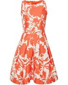 Oscar de la Renta Printed Cotton And Silk-Blend Dress - Lyst