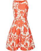 Oscar de la Renta Printed Cotton And Silk-Blend Dress - Lyst