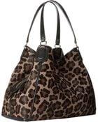 Coach Printed Haircalf Large Edie Shoulder Bag - Lyst