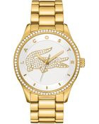 Lacoste Women'S Victoria Gold Ion-Plated Stainless Steel Bracelet 40Mm 2000827 - Lyst