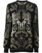 Roberto Cavalli Patterned Knit Sweater - Lyst