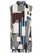 Topshop Tall Striped Sleeveless Blouse - Lyst