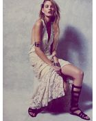 Free People Womens Ana'S Limited Edition Lace Halter Dress - Lyst