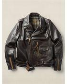 RRL Leather Model 333 Jacket - Lyst