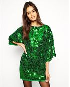 Asos Premium Sequin Mini Dress - Lyst