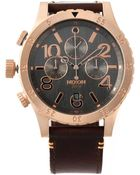 Nixon 'The 48-20 Chrono Leather' Watch - Lyst