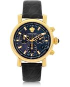 Versace Black And Gold Women'S Chronograph Watch - Lyst