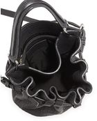 Alexander Wang Diego Rivet Flat-Bottom Lambskin Bucket Bag - Lyst
