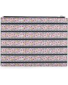 Tabitha Simmons Floral Printed-Leather Zip-Top Pouch - Lyst