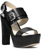 Michael Kors Beatrice Leather Platform Sandal - Lyst