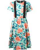 Marc By Marc Jacobs Floral Brace Detail Dress - Lyst
