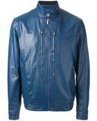 Zegna Sport Biker Style Jacket - Lyst