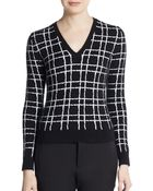 DSquared² Windowpane V-Neck Sweater - Lyst