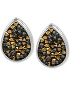 Kenneth Cole New York Two-Tone Faceted Teardrop Stud Earrings - Lyst