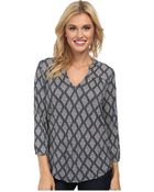 Lucky Brand Diamond Tiles Top - Lyst
