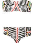 Missoni Crochet-Knit Bandeau Bikini - Lyst